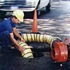 Portable ventilation hose and fan kit