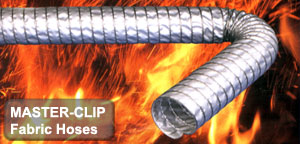Technical fabric hoses ideal for extremely high temperature vehicle exhaust removal